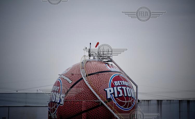 The Detroit Pistons giant ball in Detroit.
