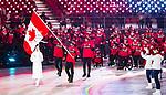 Brian McKeever, PyeongChang 2018 - Brian McKeever carries the Canadian flag in the closing ceremony // Brian McKeever portent le drapeau canadien lors de la cérémonie de clôture. 9/03/2019.