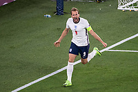 3rd July 2021, Rome, Italy;  Stadio Olimpico during the EURO 2020 quarter finals Ukraine versus England as Harry Kane England celebrates his goal for 0:1