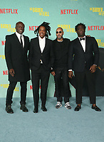 LOS ANGELES, CA - OCTOBER 13: Jeymes Samuel, Sean Carter, Swizz Beatz, Seal, at the Special Screening Of The Harder They Fall at The Shrine in Los Angeles, California on October 13, 2021. Credit: Faye Sadou/MediaPunch