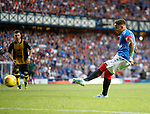 25.07.2019 Rangers v Progres Niederkorn: James Tavernier fails to convert his penalty kick