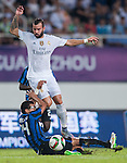 (R) Jese Rodriguez of Real Madrid CF competes for the balding (L) Jeison Murillo of FC Internazionale Milano during the FC Internazionale Milano vs Real Madrid  as part of the International Champions Cup 2015 at the Tianhe Sports Centre on 27 July 2015 in Guangzhou, China. Photo by Hendrik Frank / Power Sport Images
