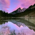 Moonrise, String Lake, The Cathedrals, Grand Teton National Park, Wyoming
