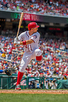 29 April 2017: Washington Nationals first baseman Ryan Zimmerman at bat against the New York Mets at Nationals Park in Washington, DC. The Mets defeated the Nationals 5-3 to take the second game of their 3-game weekend series. Mandatory Credit: Ed Wolfstein Photo *** RAW (NEF) Image File Available ***