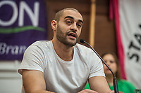 Stand Up To Racism Conference 2017. Held in central London. 22-10-17 London rapper Lowkey.