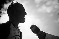 2013 Giro d'Italia.stage 13: Busseto - Cherasco..post race interview for Lars Bak (DNK)