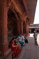 Indien, Uttar Pradesh,  Fatehpur Sikri,im Jodhbal Palast, Unesco-Weltkulturerbe