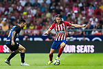 Filipe Luis (R) of Atletico de Madrid is tackled by Mattia Politano of FC Internazionale during their International Champions Cup Europe 2018 match between Atletico de Madrid and FC Internazionale at Wanda Metropolitano on 11 August 2018, in Madrid, Spain. Photo by Diego Souto / Power Sport Images