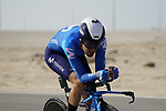 Antonio Pedrero (ESP) Movistar Team during Stage 2 of the 2021 UAE Tour an individual time trial running 13km around  Al Hudayriyat Island, Abu Dhabi, UAE. 22nd February 2021.  <br /> Picture: Eoin Clarke | Cyclefile<br /> <br /> All photos usage must carry mandatory copyright credit (© Cyclefile | Eoin Clarke)