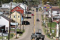 Main Street of midwestern town, Richmond, Ohio, USA.
