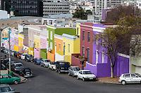 South Africa, Cape Town.  Street Scene in Bo-kaap, Cape Town's Historic Muslim Neighborhood.