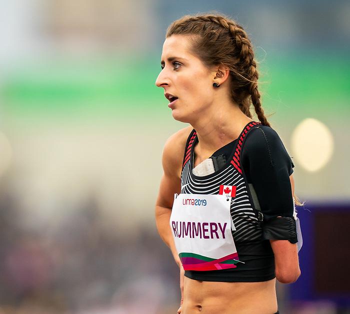 Amanda Rummery, Lima 2019 - Para Athletics // Para-athlétisme.<br /> Amanda Rummery competes in the women's 200m T47. // Amanda Rummery participe au 200 m T47 féminin. 25/08/2019.