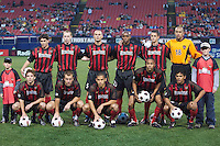 MetroStars starting lineup prior to the start of the game. The Dallas Burn were defeated by the NY/NJ MetroStars 2-1 on 5/24/03 at Giant's Stadium, East Rutherford, NJ.