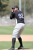 Juan Gonzalez, Colorado Rockies 2010 minor league spring training..Photo by:  Bill Mitchell/Four Seam Images.