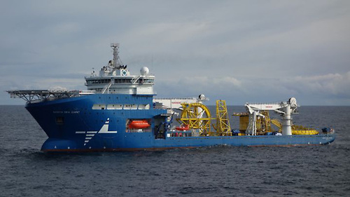 The construction support vessel North Sea Giant