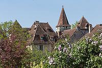 France, Lot, Haut-Quercy, Vallée de la Dordogne, Carennac, labellisé  Les Plus Beaux Villages de France ,  // France, Lot, Haut Quercy, Dordogne Valley, Carennac, labelled Les Plus Beaux Villages de France (The Most Beautiful Villages of France)