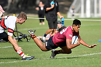 Ali Leiataua of Kings College scores a try during the College 1st XV Rugby - Scots College v Kings College at Scots College, Wellington, New Zealand on Saturday 8 May 2021.<br /> Copyright photo: Masanori Udagawa /  www.photosport.nz