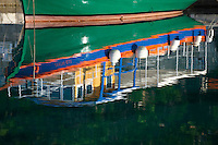 Traditional ferry  in Bol harbour, Bra? island, Croatia
