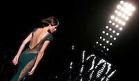Una modella presenta una creazione della collezione Autunno-Inverno 2013 di Mireille Dagher durante la rassegna Altaroma a Roma, 6 luglio 2013.<br /> A model wears a creation of the Mireille Dagher house's Fall-Winter 2013 collection during the Altaroma fashion week in Rome, 6 July 2013.<br /> UPDATE IMAGES PRESS/Isabella Bonotto