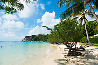 Beautiful Leela Beach near Cocohut village in Phangan island, Thailand