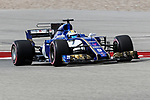 Sauber driver Marcus Ericsson (9) of Sweden in action during the final practice before the Formula 1 United States Grand Prix race at the Circuit of the Americas race track in Austin,Texas.