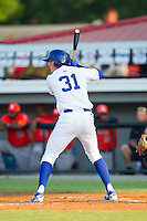 Riley King (31) of the Burlington Royals at bat against the Greeneville Astros at Burlington Athletic Park on June 30, 2014 in Burlington, North Carolina.  The Royals defeated the Astros 9-8. (Brian Westerholt/Four Seam Images)