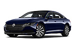 Stock pictures of low aggressive front three quarter view of a 2019 Volkswagen Arteon SEL 5 Door Hatchback