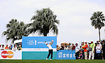 TAIPEI, TAIWAN - NOVEMBER 20:  Lorens Chan of USA tees off on the 1st hole during day three of the Fubon Senior Open at Miramar Golf & Country Club on November 20, 2011 in Taipei, Taiwan. Photo by Victor Fraile / The Power of Sport Images