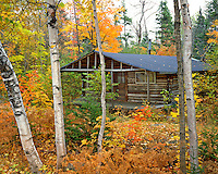 Rustic cabin near Lake Seboes Maine
