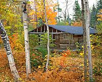 Rustic cabin near Lake Seboes Maine