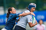 Japan vs Argentina during the Day 1 of the IRB Women's Sevens Qualifier 2014 at the Skek Kip Mei Stadium on September 12, 2014 in Hong Kong, China. Photo by Aitor Alcalde / Power Sport Images