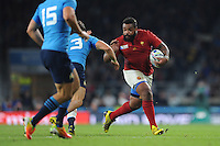 Mathieu Bastareaud of France in action during Match 5 of the Rugby World Cup 2015 between France and Italy - 19/09/2015 - Twickenham Stadium, London <br /> Mandatory Credit: Rob Munro/Stewart Communications