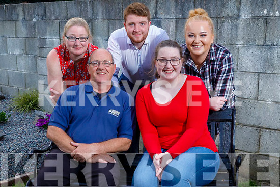 Paddy and Alex White of St Brendan's Park celebrate their birthdays at home on Saturday. Paddy hit 58 on Saturday and Alex turned 23 on Tuesday. <br /> Seated: Paddy and Alex White.<br /> Back: Kathleen, Thomas and Jennifer White