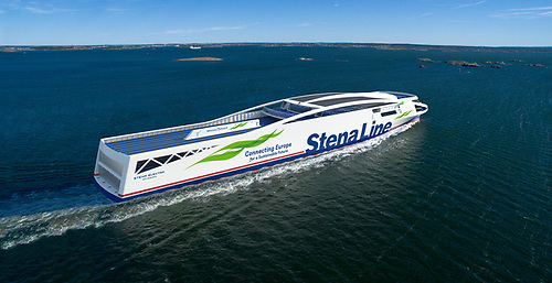 Stena Line aims to launch a fully battery powered vessel before 2030. Stena Elektra is a lightweight battery powered vessel with capacity to run approximately 50 nautical miles on batteries only, i.e. between Gothenburg or Fredrikshaven