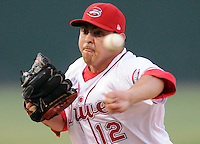 June 19, 2009: LHP reliever Armando Zerpa (12) of the Greenville Drive, Class A affiliate of the Boston Red Sox, in a game against the Lexington Legends at Fluor Field at the West End in Greenville, S.C. Photo by: Tom Priddy/Four Seam Images