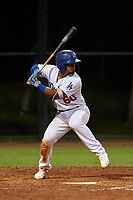 AZL Dodgers Mota Juan Zabala (60) at bat during an Arizona League game against the AZL Rangers at Camelback Ranch on June 18, 2019 in Glendale, Arizona. AZL Dodgers Mota defeated AZL Rangers 13-4. (Zachary Lucy/Four Seam Images)
