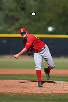 Los Angeles Angels pitcher Ronnie Glenn (52) during an instructional league game against the Arizona Diamondbacks on October 9, 2015 at the Tempe Diablo Stadium Complex in Tempe, Arizona.  (Mike Janes/Four Seam Images)