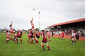 Counties Manukau Premier Club Rugby game between Papakura and Karaka played at Massey Park Papakura on Saturday May 5th 2018. Papakuar won the game 28 - 25 after trailing 6 - 12 at halftime.<br /> Papakura - Faalae Peni, Darryl Hemopo, George Crichton, Federick Cain tries, Faalae Peni conversion; Faalae Peni 2 penalties, Karaka -Salesitangi Savelio, Cardiff Vaega, Walter Fifita tries, Juan Benadie 2 conversions, Juan Benadie 2 penalties.<br /> Photo by Richard Spranger.