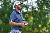 OLYMPIA FIELDS, IL - AUGUST 29: Dustin Johnson of the United States gets ready to play the ball at the 16th tee during the third round of the BMW Championship at Olympia Fields Country Club (North)
