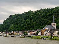 St. Goarshausen, Rheinland-Pfalz, Deutschland, Europa<br /> St. Goarshausen, Rhineland-Palatinate, Germany, Europe
