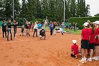 August 17, 2014, Netherlands, Raalte, TV Ramele, Tennis, National Championships, NRTK, Mens Final : prize giving, between the ball kids<br /> Photo: Tennisimages/Henk Koster