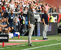 Trainer Adi Hütter (Eintracht Frankfurt) - 18.08.2019: Eintracht Frankfurt vs. TSG 1899 Hoffenheim, Commerzbank Arena, 1. Spieltag Saison 2019/20 DISCLAIMER: DFL regulations prohibit any use of photographs as image sequences and/or quasi-video.