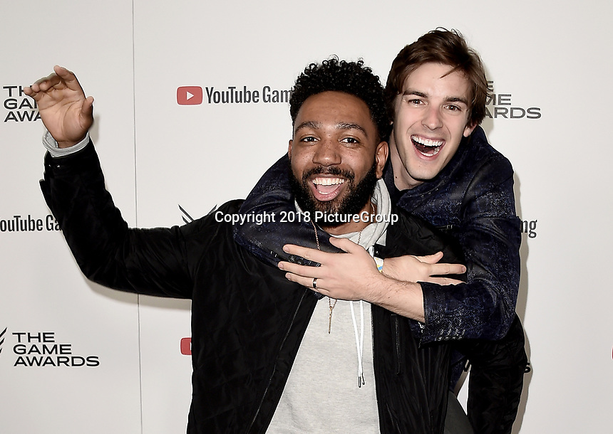 LOS ANGELES - DECEMBER 6: JD Witherspoon and Matpat  attend the 2018 Game Awards at the Microsoft Theater on December 6, 2018 in Los Angeles, California. (Photo by Scott Kirkland/PictureGroup)