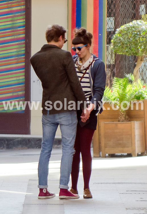 """**ALL ROUND EXCLUSIVE PICTURES FROM SOLARPIX.COM** .                                                                                                                                             **WORLDWIDE SYNDICATION RIGHTS **                                                        Dr Who filming in Spain..Dr Who actor Matt Smith and Karen Gillan who plays his companion Amy Pond together with actor Arhur Darvil who plays Roy Williams are all currently in Almeria, Spain, filming an episode called """"Gun Slingers""""..Arthur Darvil was  spotted out and about in the city of Almeria on their day off from filming showing his girlfriend the sights..                                                                        .This pic: Arthur Darvil & his girlfreind   .                                                                                     .JOB REF:   14557   RAP       DATE:  12.03.12                                                          **MUST CREDIT SOLARPIX.COM OR DOUBLE FEE WILL BE CHARGED**                                                                      **MUST AGREE FEE BEFORE ONLINE USAGE**                               **CALL US ON: +34 952 811 768 or LOW RATE FROM UK 0844 617 7637**"""