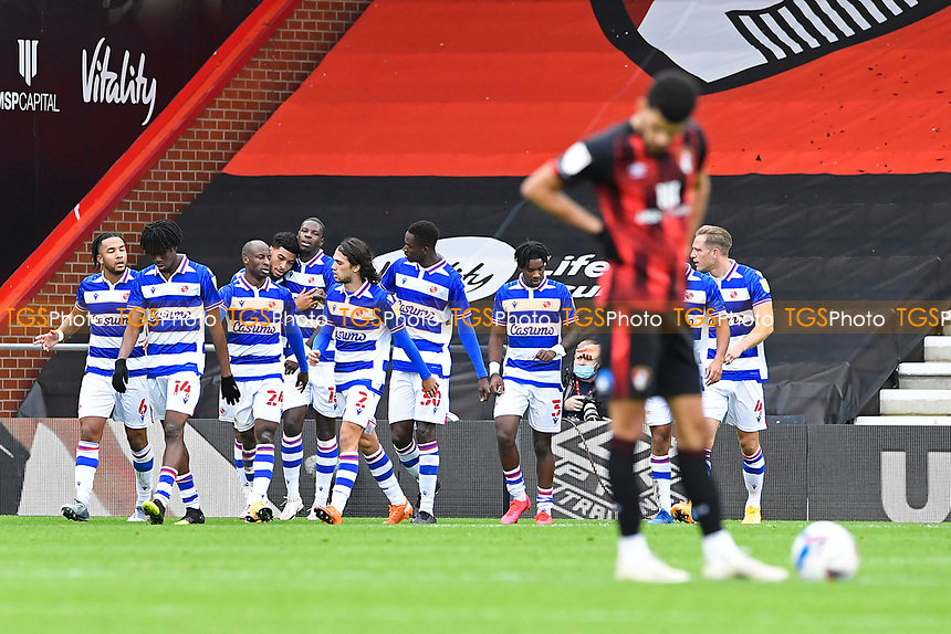 Reading players congratulate Lucas Joao of Reading after scoring the first goal from the penalty spot during AFC Bournemouth vs Reading, Sky Bet EFL Championship Football at the Vitality Stadium on 21st November 2020