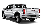 Car pictures of rear three quarter view of a 2019 GMC Sierra 1500 SLT 4 Door Pick Up angular rear