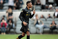 LOS ANGELES, CA - MARCH 01: Mark-Anthony Kaye #14 of LAFC during a game between Inter Miami CF and Los Angeles FC at Banc of California Stadium on March 01, 2020 in Los Angeles, California.