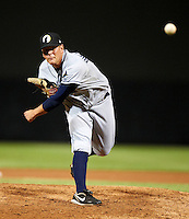 Phoenix Desert Dogs pitcher C.J. Riefenhauser #46, of the Tampa Bay Rays organization, during an Arizona Fall League game against the Salt River Rafters at Salt River Fields at Talking Stick on October 16, 2012 in Scottsdale, Arizona.  The game was called after 11 innings with a 3-3 tie.  (Mike Janes/Four Seam Images)
