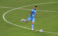 WASHINGTON, DC - SEPTEMBER 06: Alexander Callens #11 of New York City FC passes the ball during a game between New York City FC and D.C. United at Audi Field on September 06, 2020 in Washington, DC.