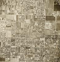 historical aerial photograph Van Nuys, California, 1947